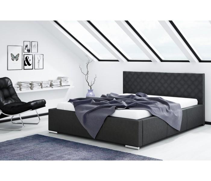 Łóżko tapicerowane do sypialni RETRO