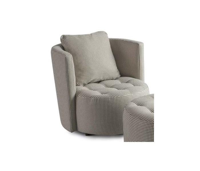 Fotel + pufa pikowana Aston