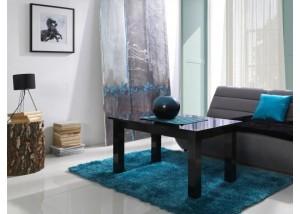 Nowoczesne ławy do salonu czarny połysk T26