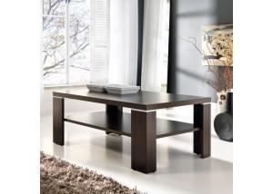 Nowoczesna ława, stolik do salonu z połką dąb sonoma T35