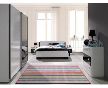 Nowoczesne Meble Do Sypialni Biały Czarny Połysk Lux 1