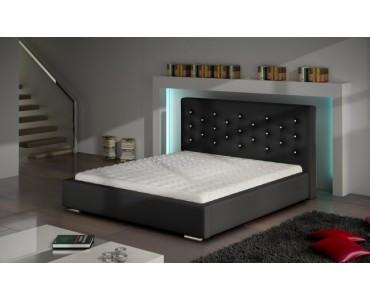 Nowoczesne łóżko Tapicerowane Do Sypialni Savana Crystal