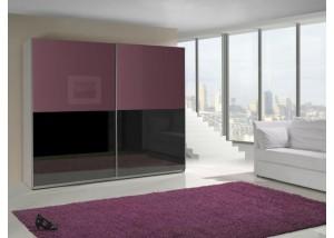 Szafa przesuwna fioletowy połysk, czarny połysk Lux 11