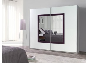 Nowoczesna szafa przesuwna z lustrem Lux 32