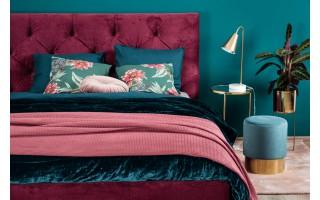 Tapicerowane łóżko do sypialni Elektra