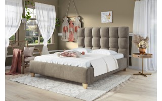 Łóżko tapicerowane do sypialni Sierra