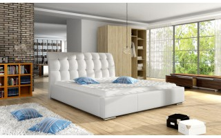 Łóżko tapicerowane VERONA 160x200cm z pikowanym zagłówkiem