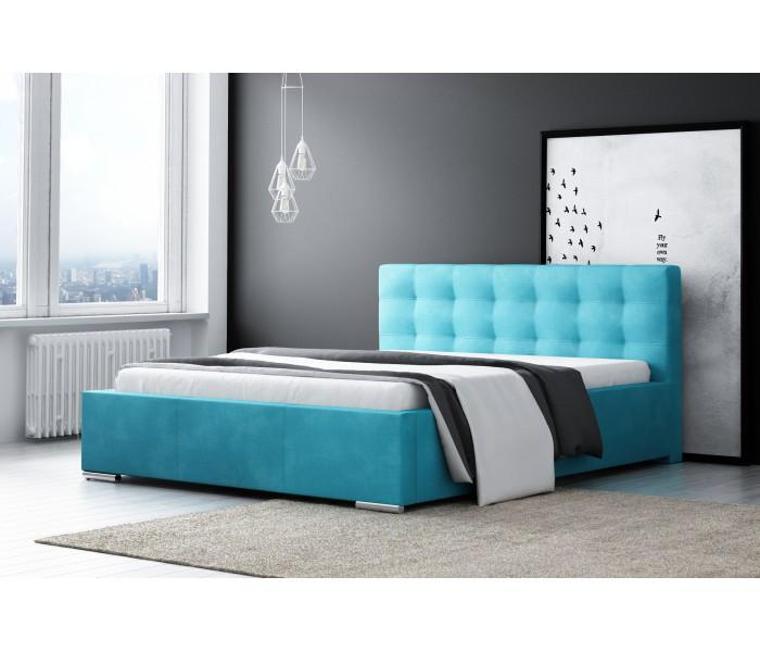 Łóżko z wezgłowiem do sypialni Diana