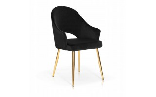 Krzesło tapicerowane GODA GOLD GLAMOUR złota noga