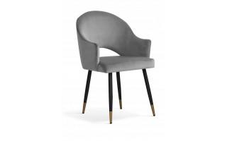 Krzesło GODA GLAMOUR czarna noga + złota końcówka