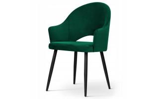 Krzesło tapicerowane GODA GLAMOUR czarna noga
