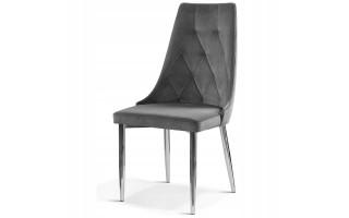 Krzesło tapicerowane CAREN II SILVER metal. noga
