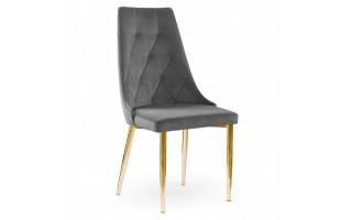 Krzesło tapicerowane CAREN II metalowa złota noga