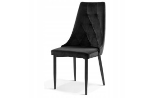 Krzesło tapicerowane CAREN II metalowa czarna noga
