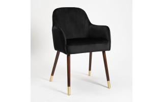 Krzesło tapicerowane TULIP PLUS + złote końcówki