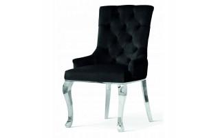 Krzesło AUGUST SILVER nogi metal. +kołatka+pniezki