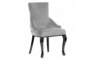 Krzesło EDWARD GLAMOUR BLACK metalowe nogi