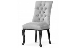 Krzesło pikowane LORD BLACK metalowe nogi