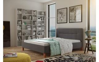 Stylowe łóżko do sypialni Karolina + stelaż+ materac piankowy Irys 10 cm
