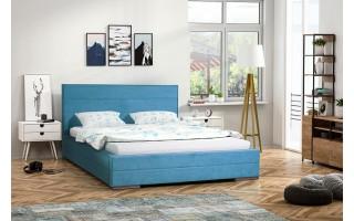 Łóżko tapicerowane do sypialni Monika ze stelażem i materacem kieszeniowy Tango