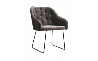 Fotel Krzesło ALBIT SKI na metalowych nogach