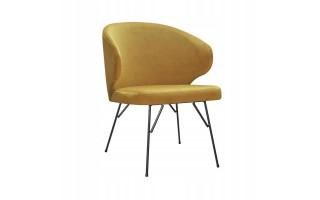 Fotel Krzesło ATLANTA SPIDER na metalowych nogach