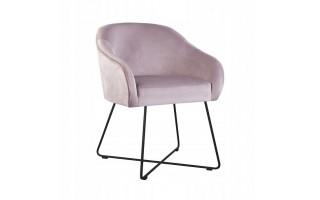 Fotel / krzesło AMELIA CROSS na metalowych nogach