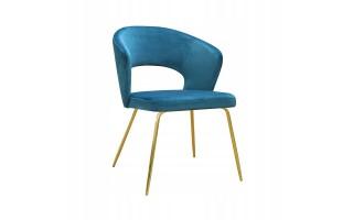 Krzesło tapicerowane BOSTON na złotych nogach