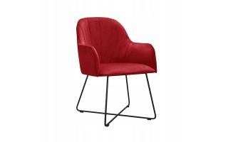 Fotel / krzesło ILARIO CROSS na metalowych nogach