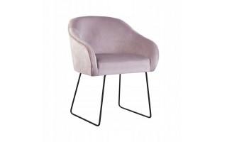 Fotel Krzesło AMELIA SKI na metalowych nogach