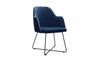 Fotel Krzesło CAPRICE CROSS na metalowych nogach