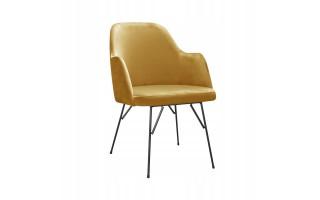 Fotel Krzesło CAPRICE SPIDER na metalowych nogach