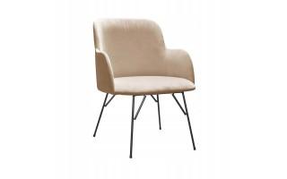 Fotel Krzesło CLARK SPIDER na metalowych nogach