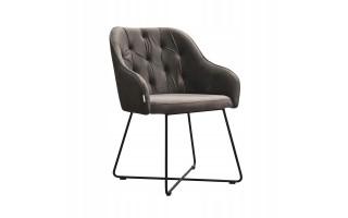 Fotel Krzesło ALBIT CROSS na metalowych nogach