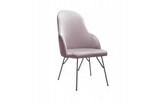 Fotel Krzesło EMILY SPIDER na metalowych nogach