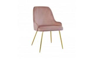 Fotel Krzesło ANDY IDEAL GOLD na złotych nogach