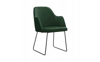 Fotel Krzesło CAPRICE SKI na metalowych nogach
