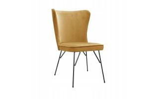Fotel Krzesło MONTI SPIDER na metalowych nogach