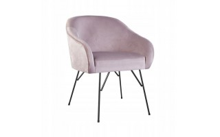 Fotel Krzesło AMELIA SPIDER na metalowych nogach