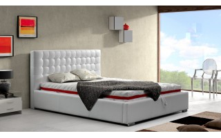 Łóżko tapicerowane do sypialni Alice z wezgłowiem