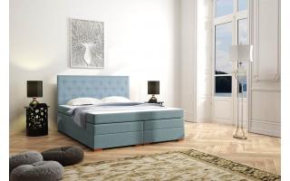 Tapicerowane łóżko kontynentalne Wenus z pojemnikiem na pościel