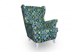 Stylowy fotel tapicerowany USZAK do salonu