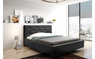 Łóżko tapicerowane do sypialni Agnes