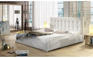 Tapicerowane łóżko do sypialni Dolores