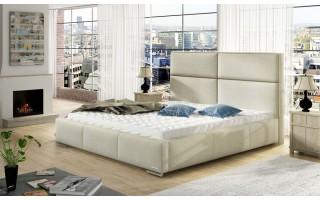 Sypialniane łóżko tapicerowane z wezgłowiem Mike