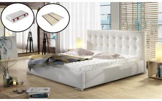 Łóżko DOLORES + materac + stelaż elastyczny
