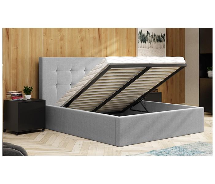 Stylowe łóżko Do Sypialni Z Pojemnikiem Na Pościel Amber 140x200