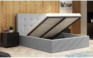 Łóżko tapicerowane AMBER 140X200 z pojemnikiem