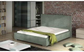 Łóżko tapicerowane do sypialni Basic zagłówkiem