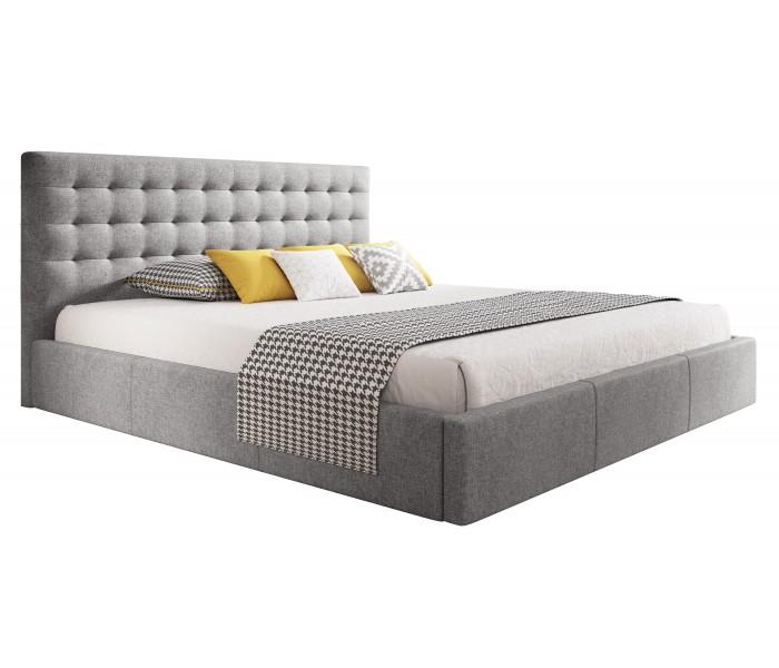 Nowoczesne Pikowane łóżko Glamour Z Pojemnikiem Na Pościel Vero